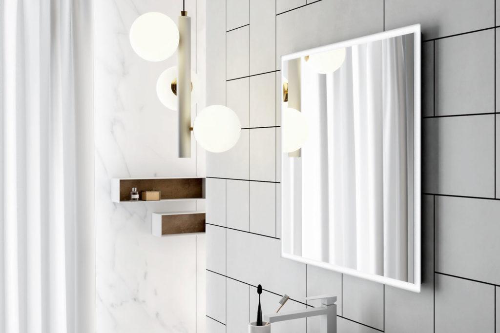 - Luci LED Smart46 2 Specchio Bianco