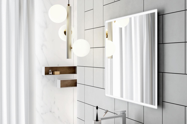 Bathroom furniture,bathroom cabinets - Luci LED Smart46 2 Specchio Bianco